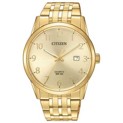 Citizen Quartz Mens Gold Tone Bracelet Watch-Bi5002-57q