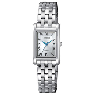 Citizen Quartz Womens Silver Tone Bracelet Watch-Ej6120-54a