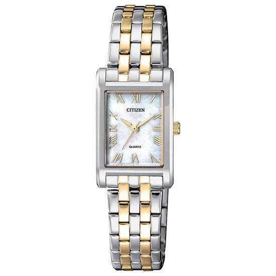 Citizen Quartz Womens Two Tone Bracelet Watch-Ej6124-53d