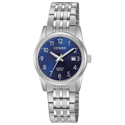 Citizen Quartz Womens Silver Tone Bracelet Watch-Eu6000-57l