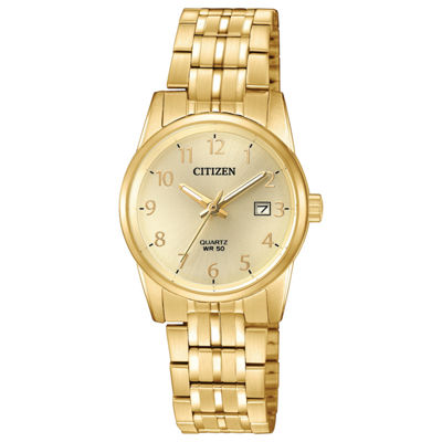 Citizen Quartz Womens Gold Tone Bracelet Watch-Eu6002-51q