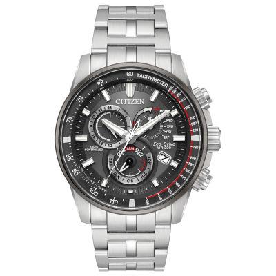 Citizen Mens Silver Tone Bracelet Watch-At4129-57h