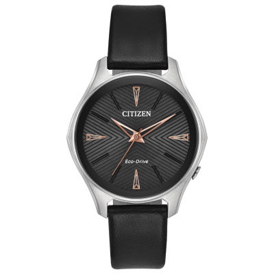 Citizen Womens Black Strap Watch-Em0591-01e