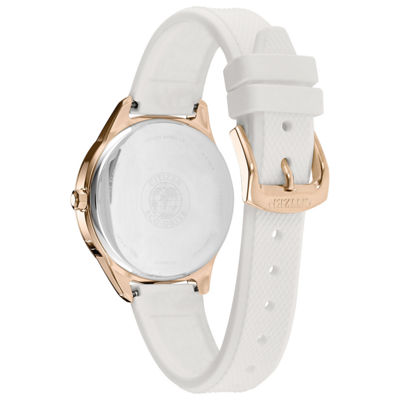 Citizen Womens White Strap Watch-Fe6103-00a