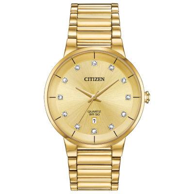 Citizen Quartz Mens Gold Tone Bracelet Watch-Bi5012-53q