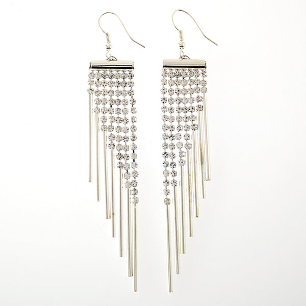 Bijoux Bar Clear Drop Earrings