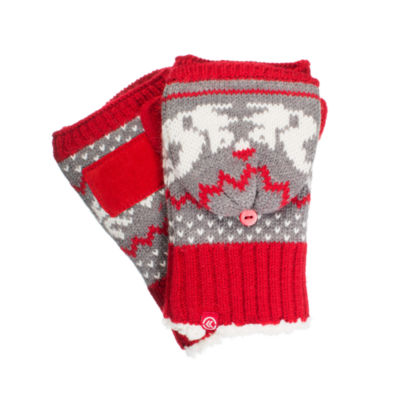 Isotoner Women's Cable Knit Flip Top Mittens