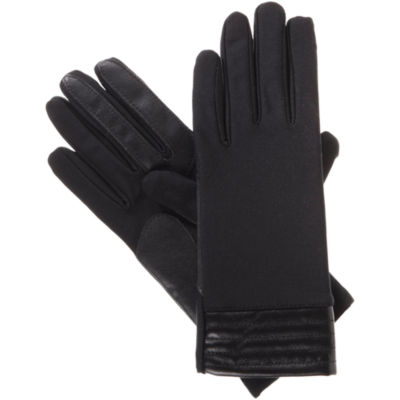 Isotoner Spandex Glove W/ Metallic Cuff with smarTouch® Technology