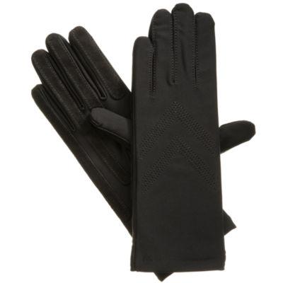 Isotoner Women's Spandex Three-Button Length Chevron Gloves
