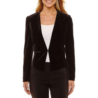 Chelsea Rose Long Sleeve Velvet Suit Jacket
