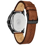 Drive from Citizen Mens Brown Leather Strap Watch-Bu4025-08e