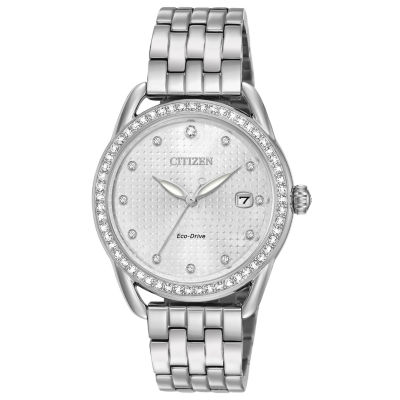 Drive from Citizen Womens Silver Tone Bracelet Watch-Fe6110-55a