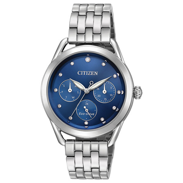Drive from Citizen Womens Silver Tone Bracelet Watch-Fd2050-53l