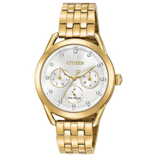 Drive from Citizen Womens Gold Tone Bracelet Watch-Fd2052-58a