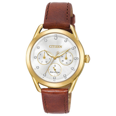 Drive from Citizen Womens Brown Strap Watch-Fd2052-07a