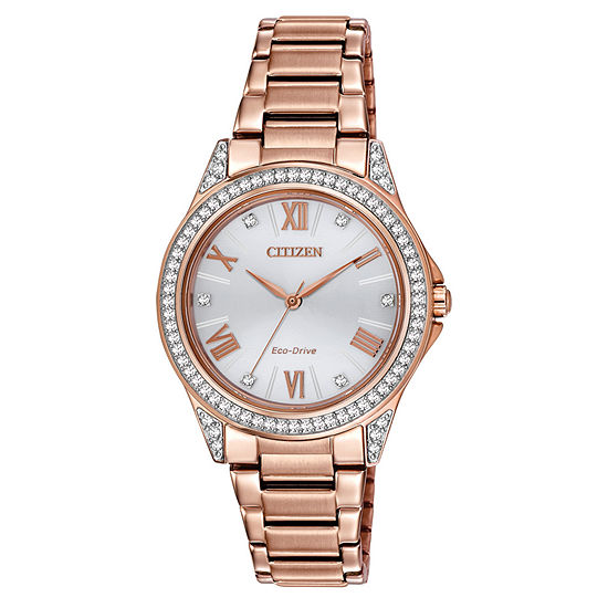 Drive from Citizen Womens Rose Goldtone Stainless Steel Bracelet Watch - Em0233-51a