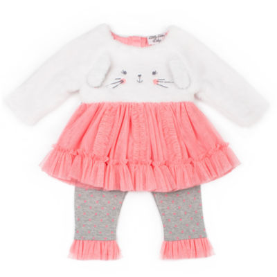Little Lass 2-pc. Short Set Baby Girls