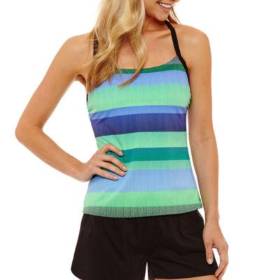 Nike Capsule Collection Stripe Tankini Swimsuit Top