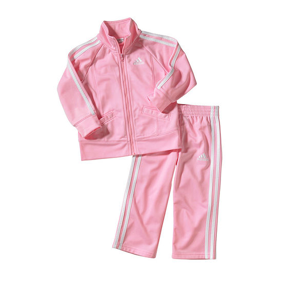 adidas Girls 2-pc. Track Suit Baby