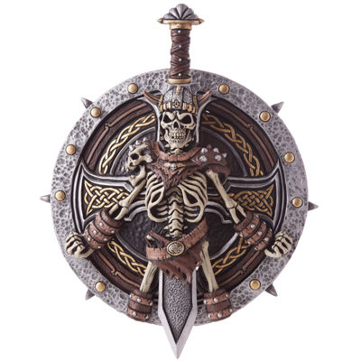 Medieval Viking Lord Sword And Shield Set