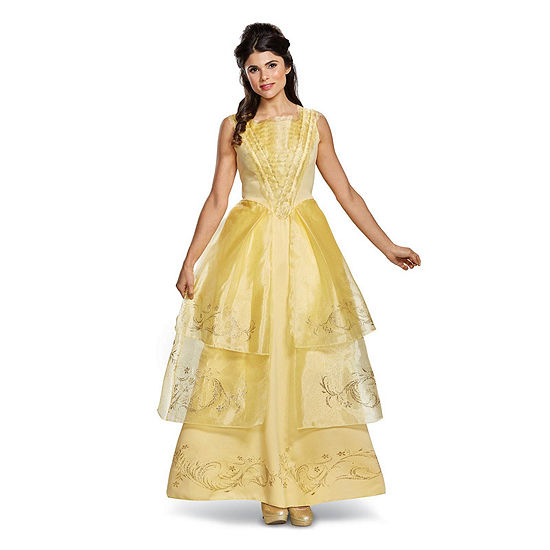 Disney Beauty And The Beast Belle Ball Gown Deluxe Adult Costume