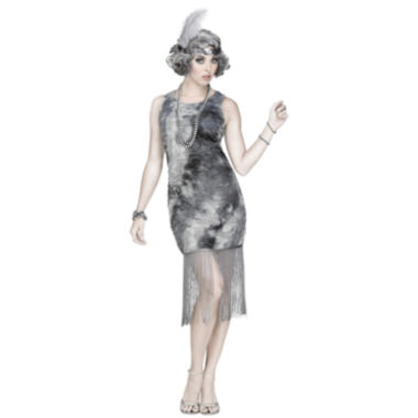 Ghostly Flapper 2-pc. Dress Up Costume Womens