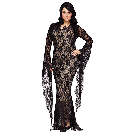 Lace Morticia Dress Up Costume Womens