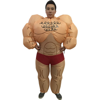 Muscle Man Adult Inflatable Costume