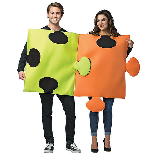 Puzzle Pieces Adult Couples Unisex Costume