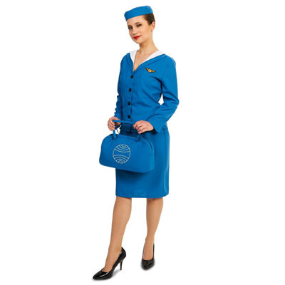 Retro Glam Airline Stewardess Adult Costume