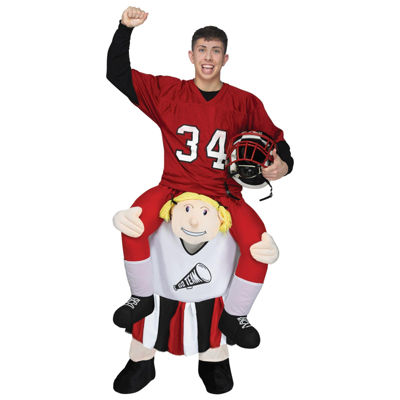 Ride a Cheerleader Adult Costume - One Size Fits Most
