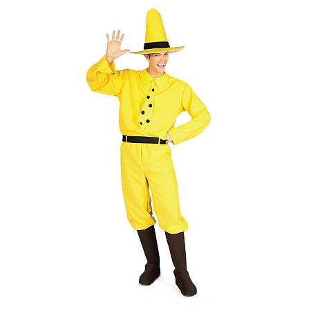 The Man with the Yellow Hat Adult Costume, One Size , Yellow