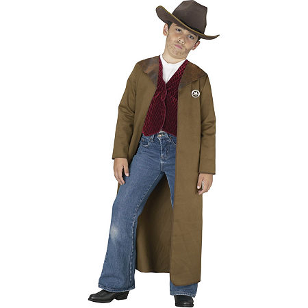 Old West Sheriff Child Costume Boys Costume, Small , Brown