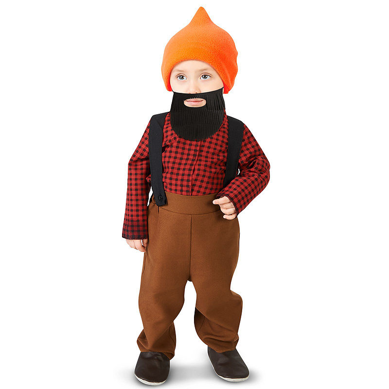 Bearded Baby Lumberjack Infant Costume, Boys, Multicolor, Size 12-18 Months