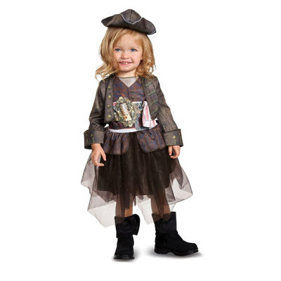 Pirates of the Caribbean 5: Captain Jack InspiredTutu Classic Toddler Costume (2T)