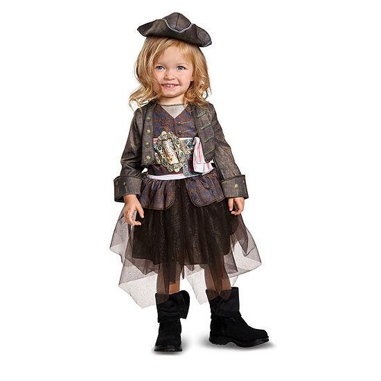 Pirates Of The Caribbean 5 Captain Jack Inspiredtutu Classic Toddler Costume 2t