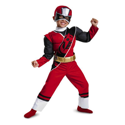 Red Ranger Ninja Steel Child Muscle Costume