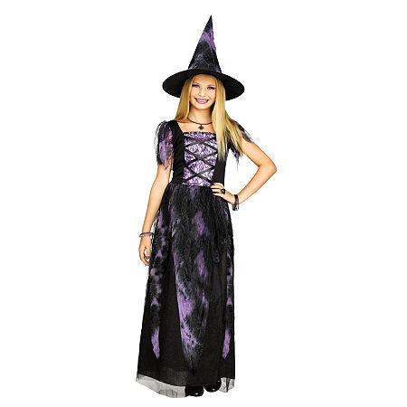 Starlight Witch Child Costume Girls Costume Girls Costume, Large , Purple