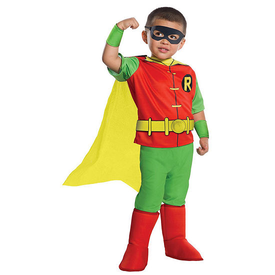 Dc Comics Robin Deluxe Toddler Costume 3t 4t