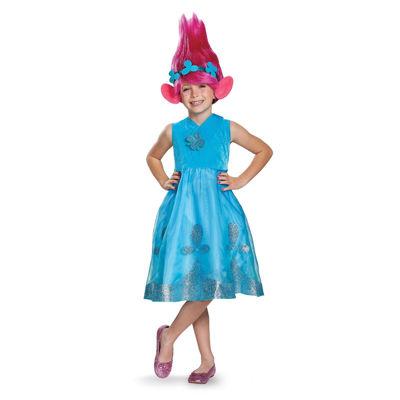 Trolls - Poppy Deluxe Costume Costume w/Wig - 3T-4T