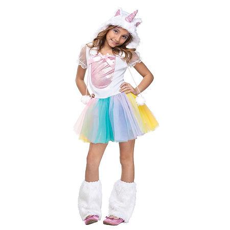 Unicorn Child Costume Girls Costume, Large , White