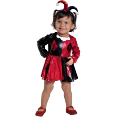 Harley Quinn Dress & Diaper Cover Set