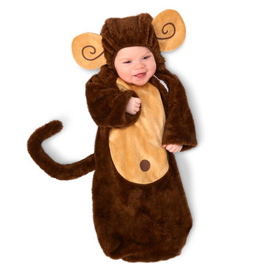 Loveable Monkey Infant Bunting 0-6M