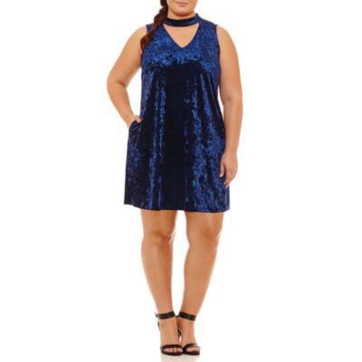 Byer California Sleeveless Party Dress-Juniors Plus
