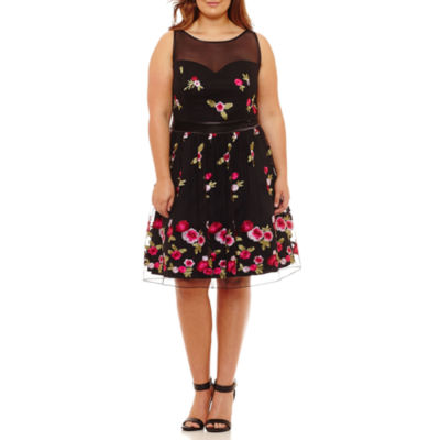 Bailey Girl Sleeveless Party Dress-Juniors Plus