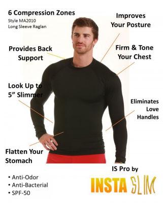 Insta Slim Men's Compression Long Sleeve Shirt