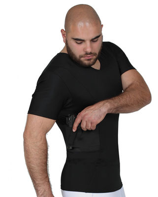 Insta Slim Men's Compression Concealment V-Neck Shirt