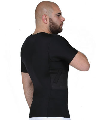 Insta Slim Men's Compression Concealment Crew Neck Shirt