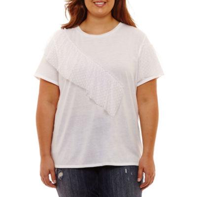 Arizona Ruffle T-Shirt- Juniors Plus