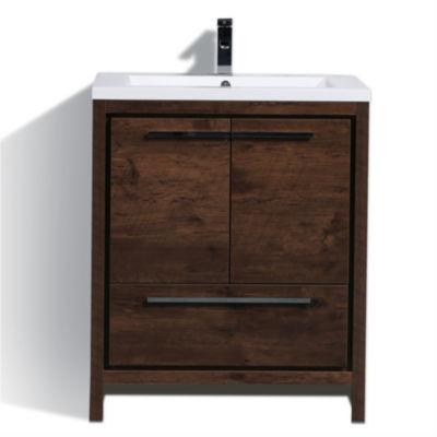 "Moreno Bath MOD 30"" Free Standing Modern BathroomVanity With 2 Doors and Acrylic Sink"""